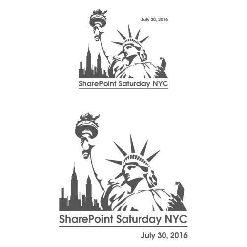 Technology Conference T Shirt Design required by SharePoint Saturday NYC