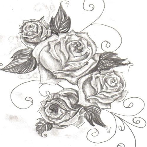 Rose tattoo sketch