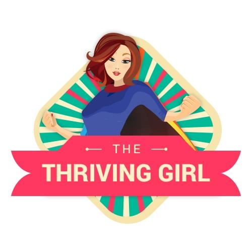 Logo design   The thriving girl