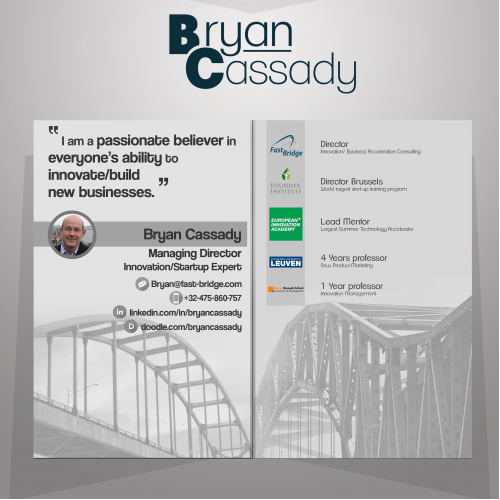 Folded Business card for Bryan Cassady